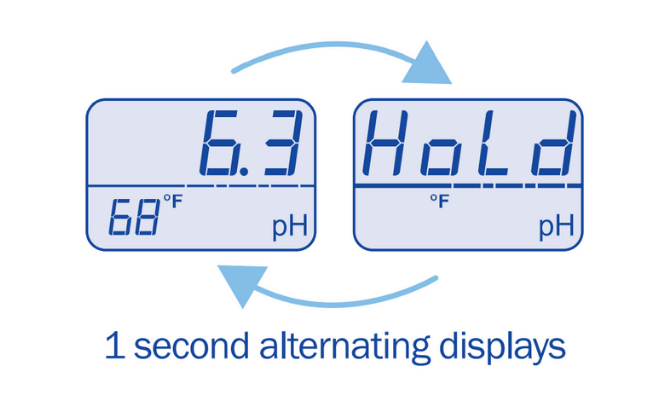 Use the hold reading function on the soil pH probe