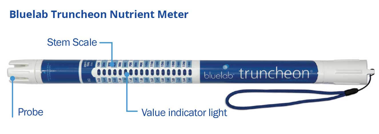 Bluelab Truncheon Meter with callouts